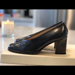 High heels. Black